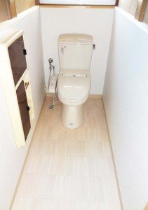 2.トイレ完成